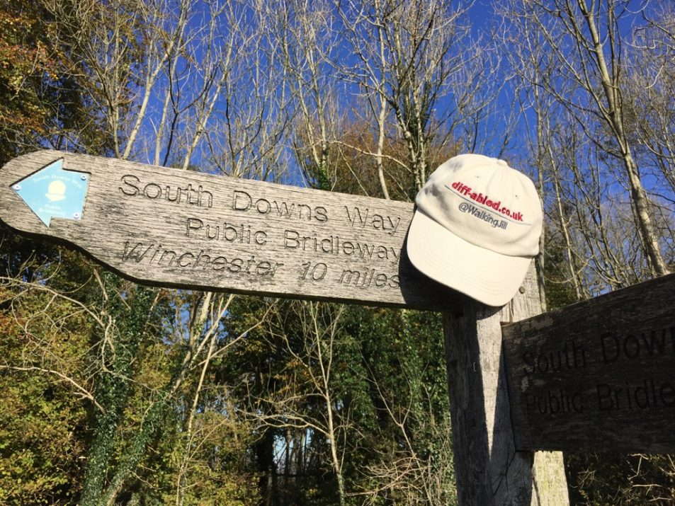 Jills Hat on South Downs Way 10 miles in
