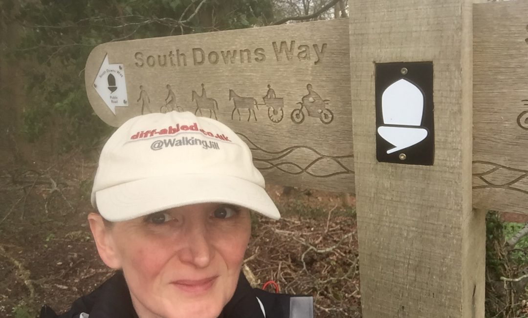 Jill Pringle South Downs Way Sign Buriton to Harting Down