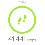Number of Fitbit Steps to Amberley from Cocking