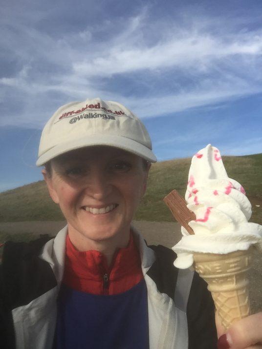 ice cream for jill pringle at beachy head