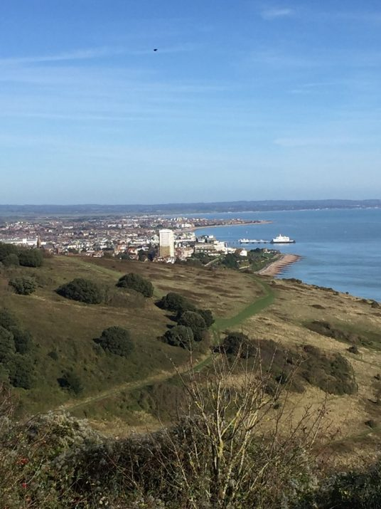 Eastbourne approach from South Downs Way