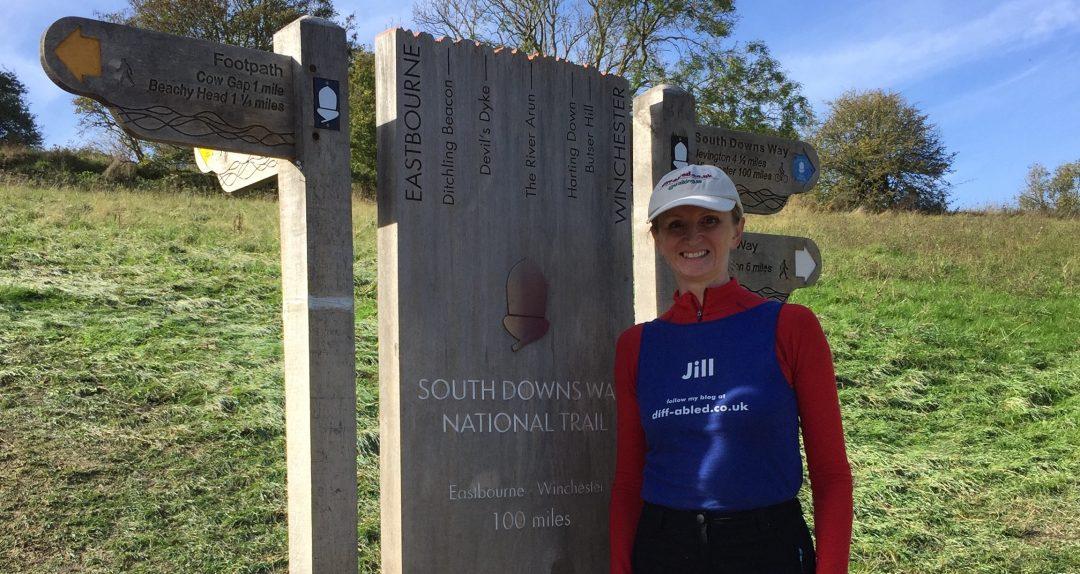 100 miles marker South Downs Way Jill Pringle